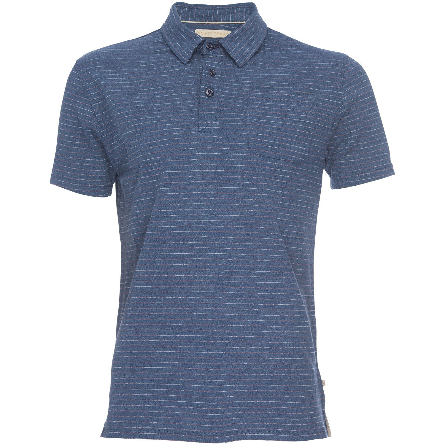 Nicholas Polo in Navy/Red Stripe
