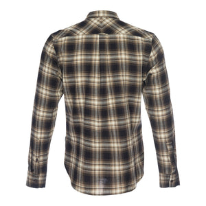 Truman Button Collar in Brown Plaid