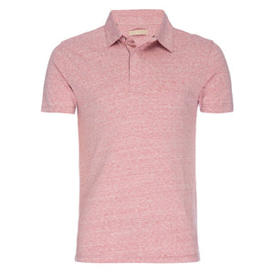 Nicholas Recycled Cotton/Poly Polo in Red