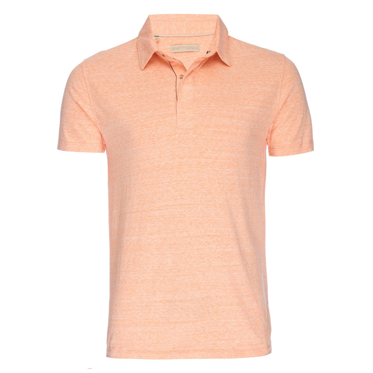 Nicholas Recycled Cotton/Poly Polo in Orange