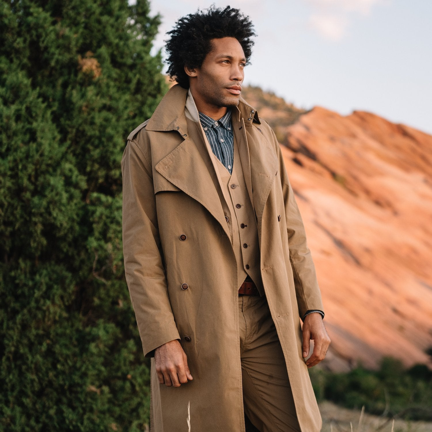 Trench Coat in Waxed Canvas