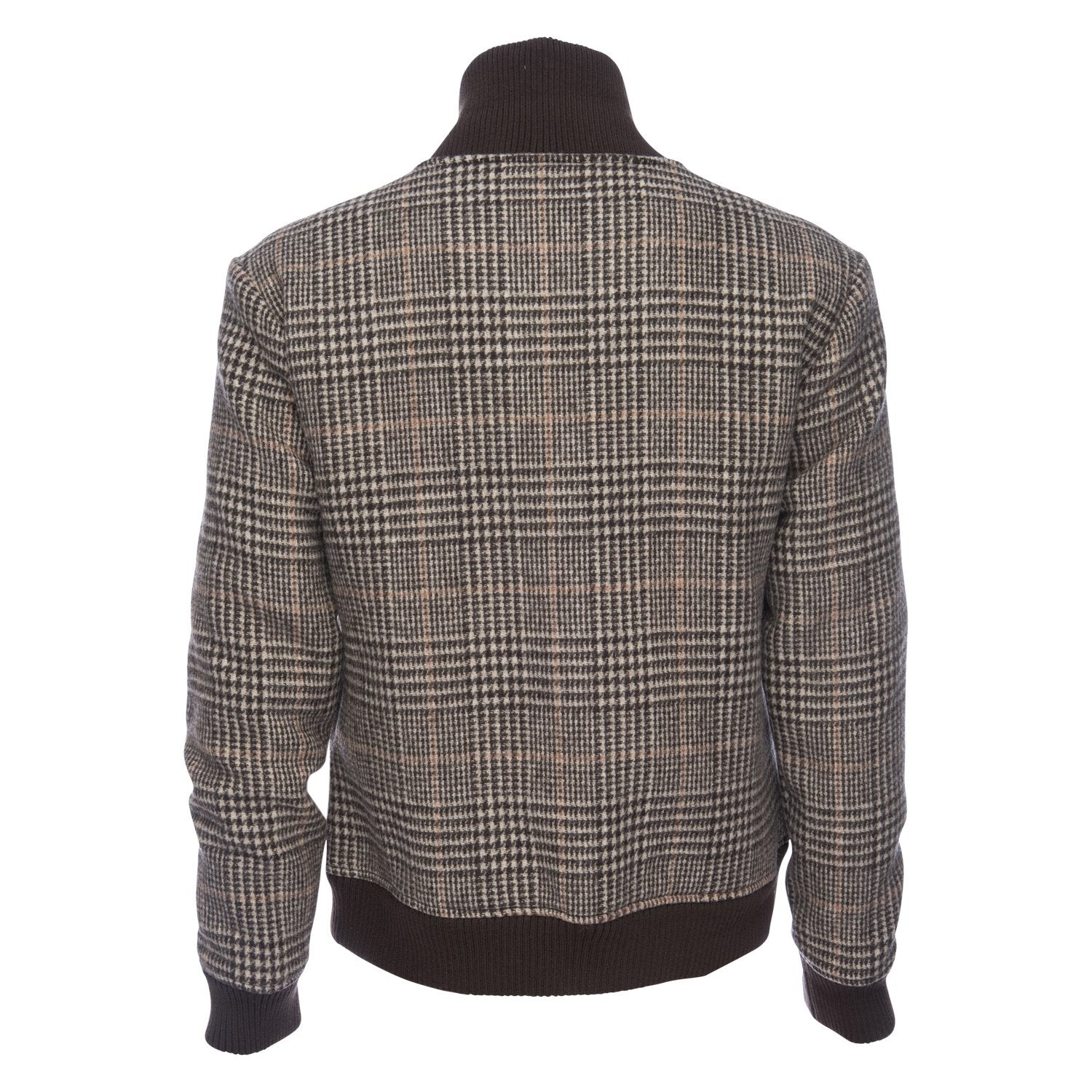 Varsity Jacket in Wool Blend Glen Plaid