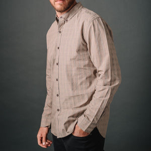 Truman Button Collar in Micro Glen Plaid