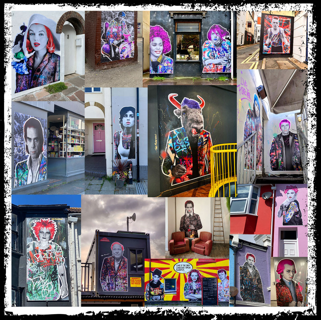 The Postman Artworks Collage