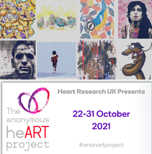 The Postman Art - The anonymous hearts project 2021