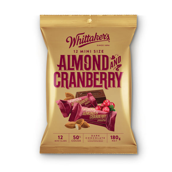 Whittaker Almond & Cranberry Mini 12 x 180g