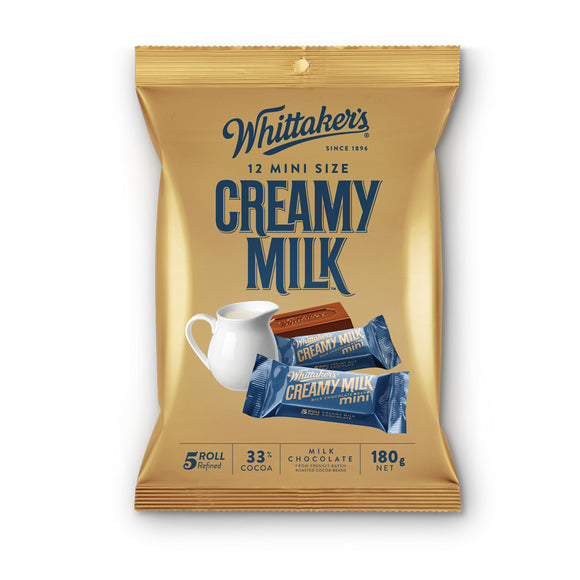 Whittaker Creamy Milk Mini 12 x 180g