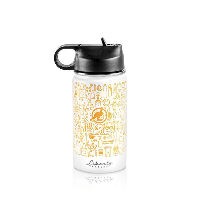 Jill and Joey 12oz Insulated Bottle Reusable Bottles Jill and Joey Reusable Products