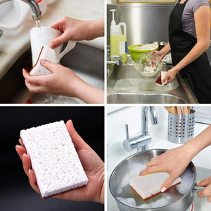 Natural Plant-based Dish Sponges Natural Plant Based Scrub Sponge Jill & Joey Reusable Products