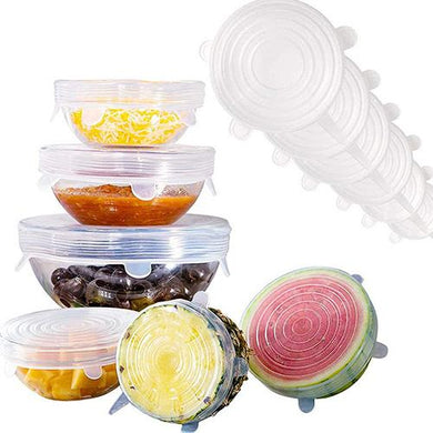 Silicone Stretchable Storage Lids Silicone Stretchable Wrap Jill & Joey Reusable Products