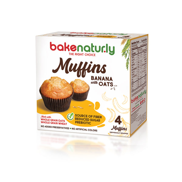 Bake Naturly Banana with Oats Breakfast & Healthy Muffins
