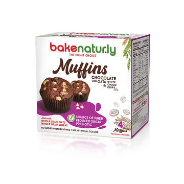 Bake Naturly Chocolate with Oats Breakfast & Healthy Muffins