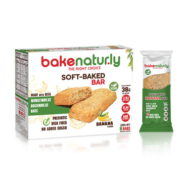 Bake Naturly Banana Soft-Baked Breakfast & Healthy Bar