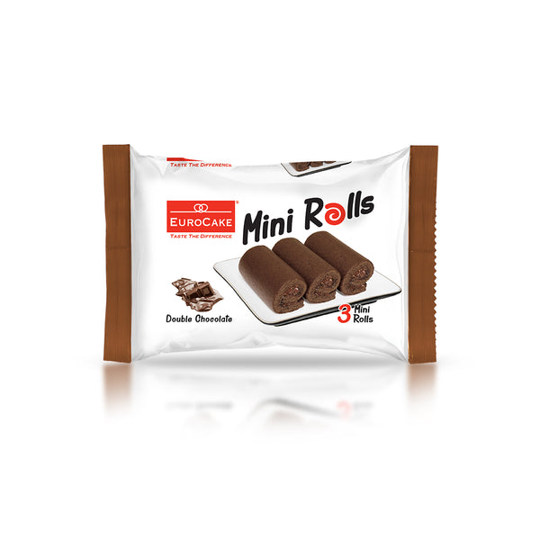 Eurocake 3pc Mini Rolls Double Chocolate 24pc Tray