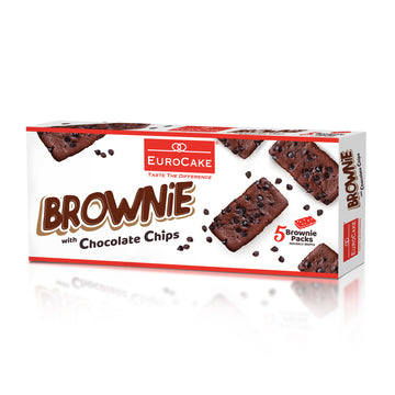 Eurocake Brownie with Chocolate Chips 5pc Box
