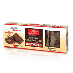 Eurocake Chocolate Chip Brownie 4pc Box