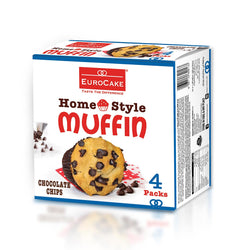 Eurocake Homestyle Chocolate Chip Muffin 4pc Box