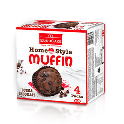 Eurocake Homestyle Double Chocolate Muffin 4pc Box