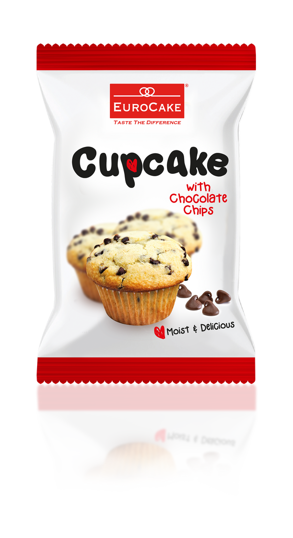 Vanilla with Chocolate Chips Cupcake 18pc Box