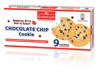 Eurocake Soft and Chewy Chocolate Chip Cookie 9pc Box