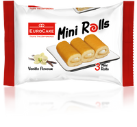 Eurocake Vanilla Mini Rolls 6pc Tray (Single Pack)