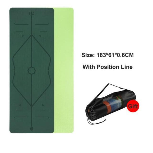 TPE Yoga Mat With Line Positions