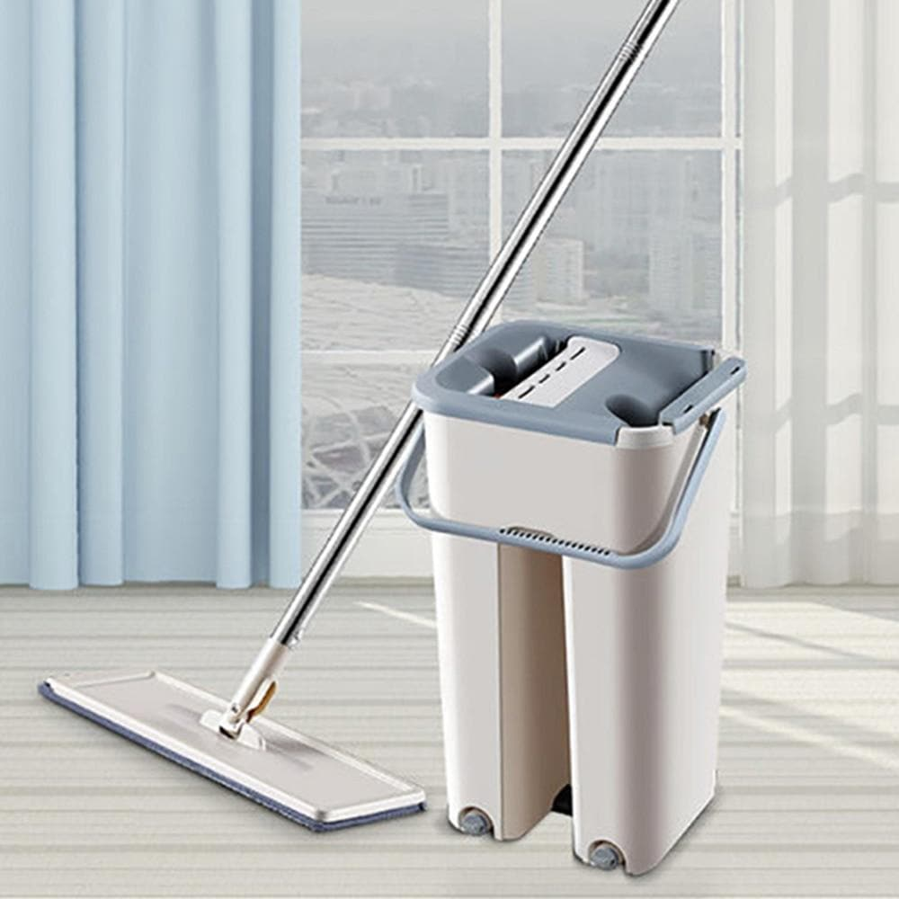 Automatic Washing and Drying Mop With Reusable Microfiber Pads