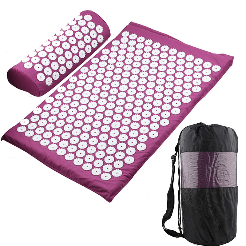 Acupressure Mat with Pillow and Carrying Bag