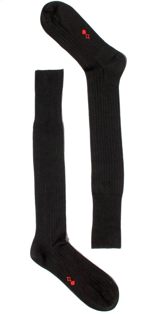 004 - Black Long Ribbed