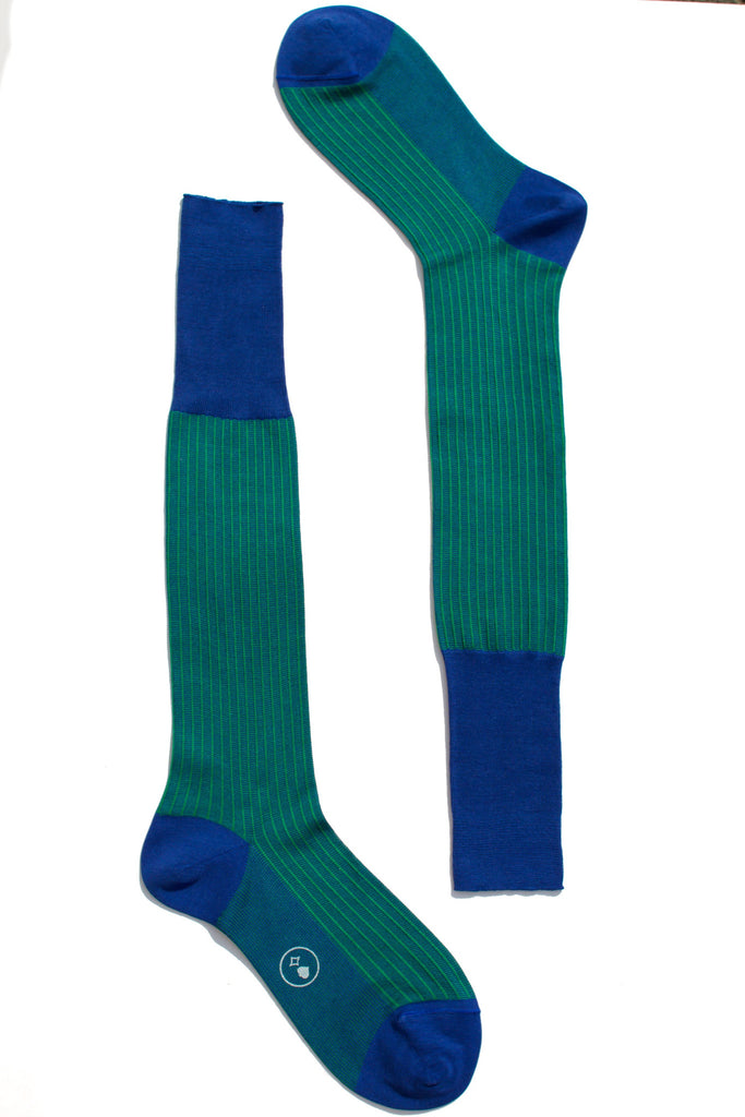 006 - City Stripes - Long - Green + Blue