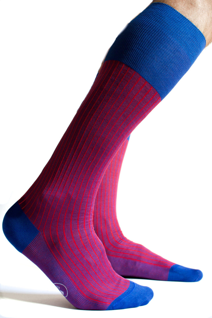 006 - City Stripes - Long - Magenta + Royal Blue
