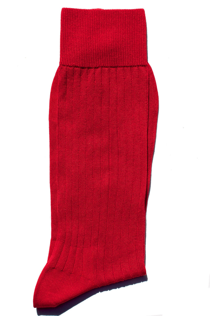 002 - Ribbed Red Egyptian Cotton