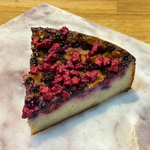 Red Fruit Cheesecake - slice