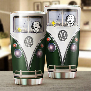 Snoopy in Green Van Tumbler