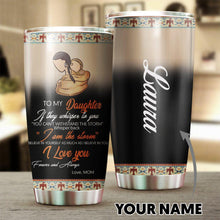 Load image into Gallery viewer, Personalized Mom To Daugther Native American Tumbler