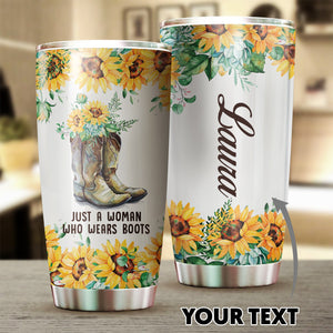 Open image in slideshow, Army Boot Sunflowers Tumbler