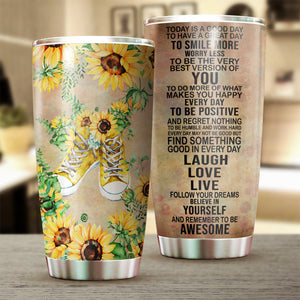 Hippie Sunflowers Today Is A Good Day Tumbler Cup