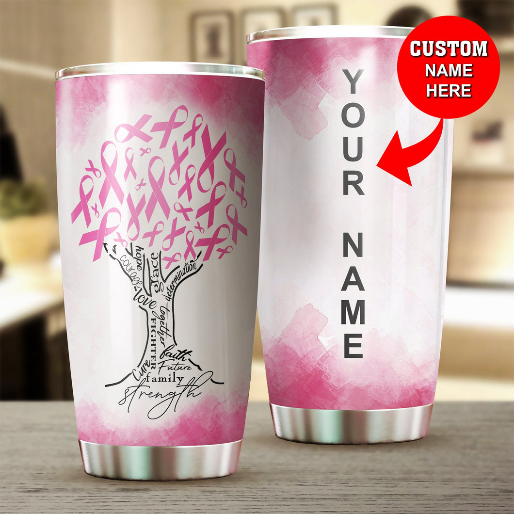 Breast Cancer Tree Custom Tumbler Cup