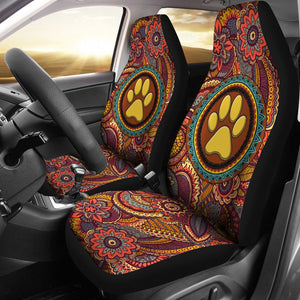 Open image in slideshow, Dog Mom Mandala Pink - Car Seat Car Seat Covers
