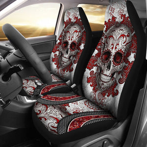 Open image in slideshow, Skull Red Seat Covers Car Seat Covers