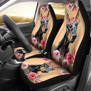 Open image in slideshow, Beautiful Seat Covers For Doberman Lovers Car Seat Covers