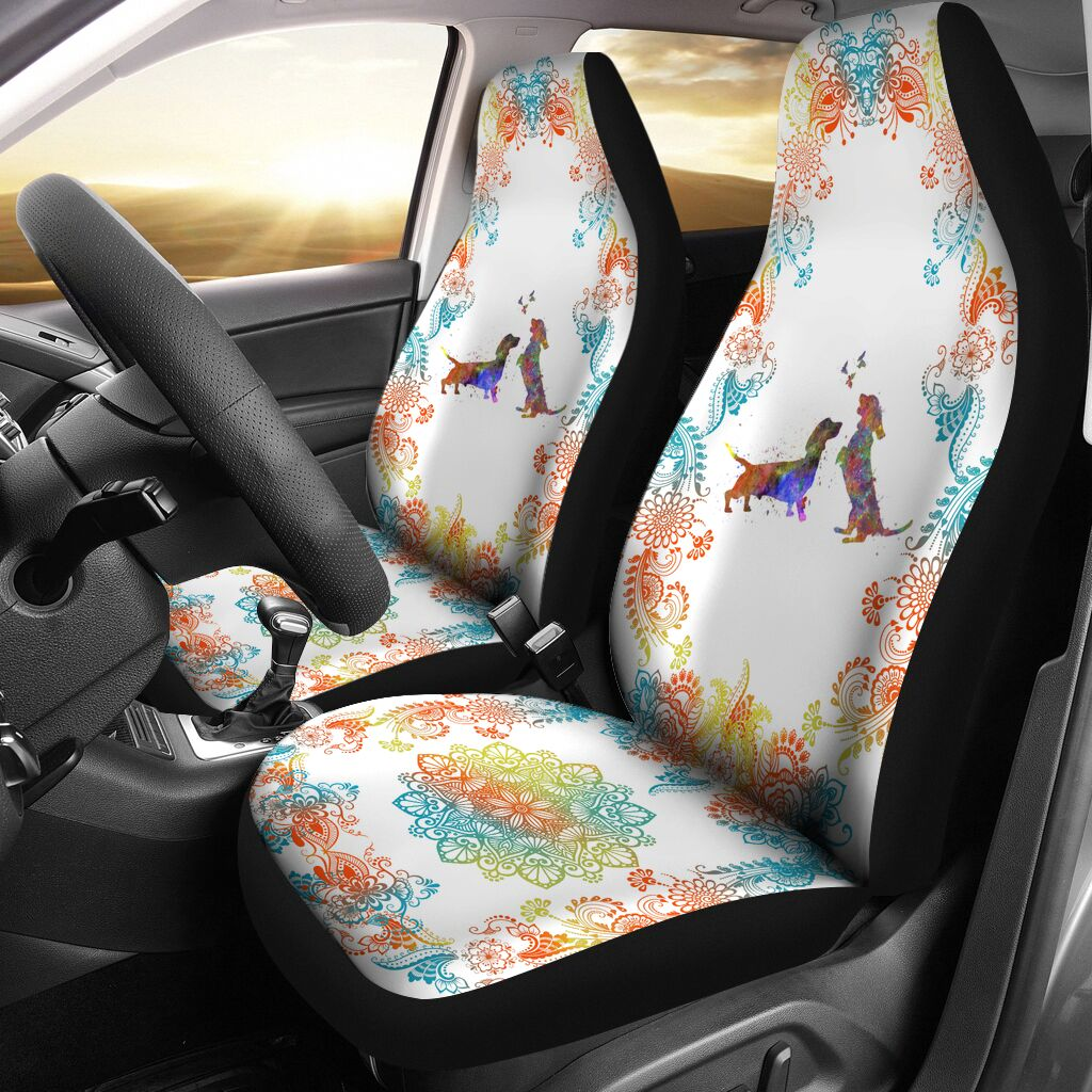 Dachshund Watercolor Seat Car - Ds01 Car Seat Covers