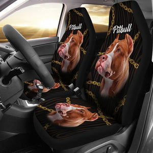 Open image in slideshow, Beautiful Seat Covers For Pitbull Lovers Car Seat Covers