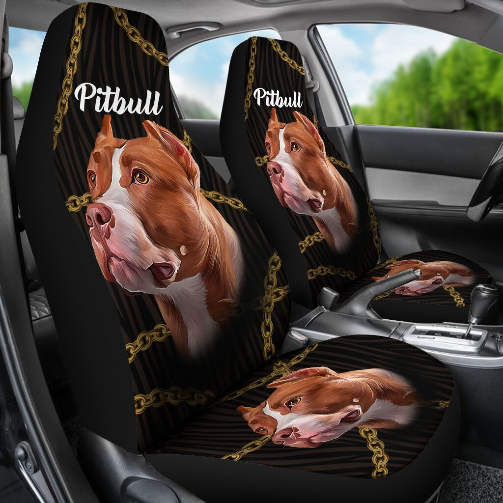 Beautiful Seat Covers For Pitbull Lovers Car Seat Covers