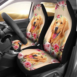 Golden Flower Seat Car Seat Covers