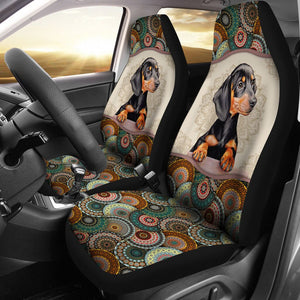 Open image in slideshow, Dachshund Mandala Seat Covers Car Seat Covers