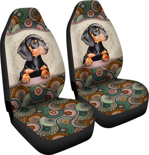 Dachshund Mandala Seat Covers Car Seat Covers