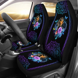 Open image in slideshow, Dachshund Seat Cover Flower Mandala Car Seat Covers