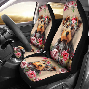 Open image in slideshow, Yorkies Flower Seat Cover Car Seat Covers