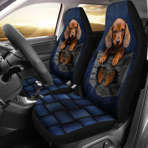 Dachshund - Seat Cover Pocket Car Seat Covers